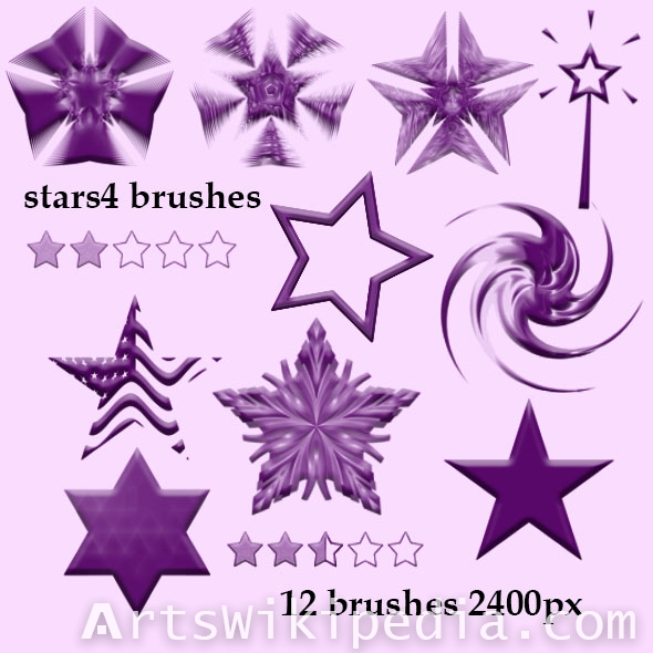beautiful stars brushes