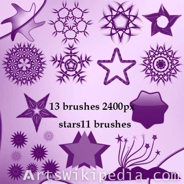 geometric stars brushes