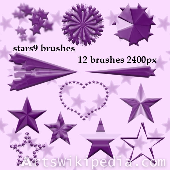 geometric stars photoshop brushes