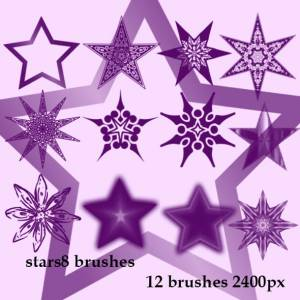high resolution stars  photoshop brushes