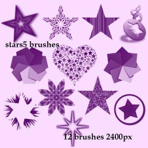 stars heart brushes