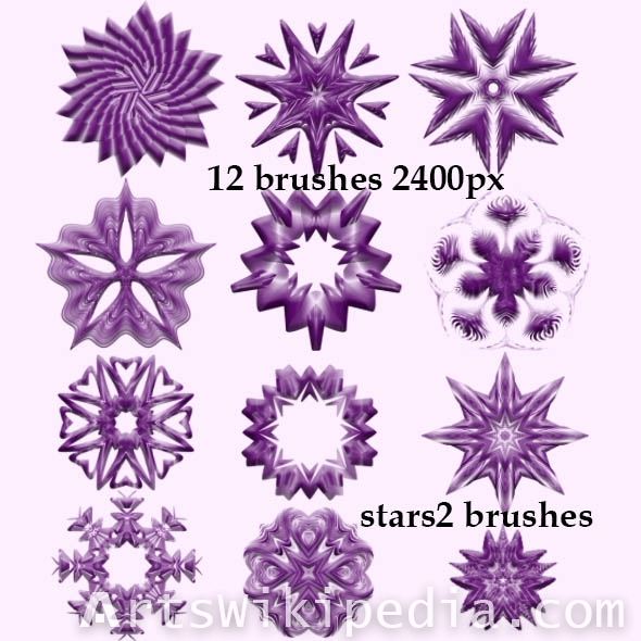 download free stars brushes