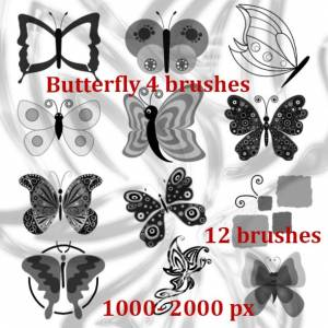 butterflies__brushes