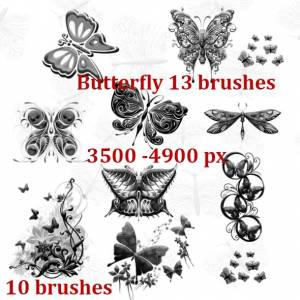 butterflies_decoration_high_resolotion_brushes
