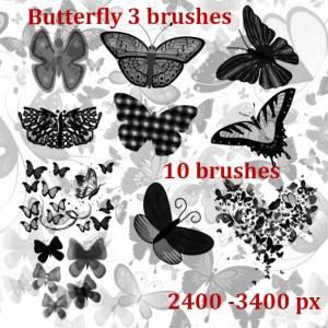 butterflies design brushes