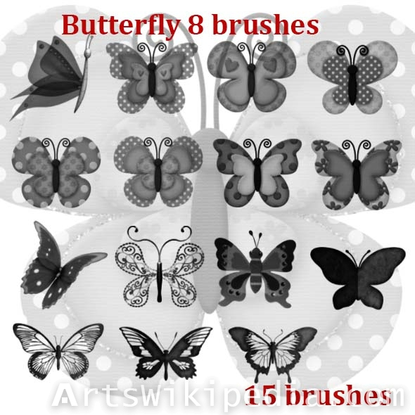 cute butterfly brushes
