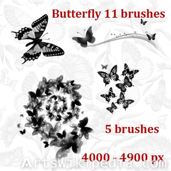 download butterfly  photoshop brushes