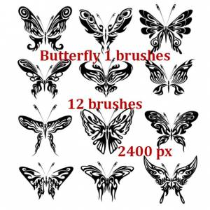fantasy butterfly photoshop brushes