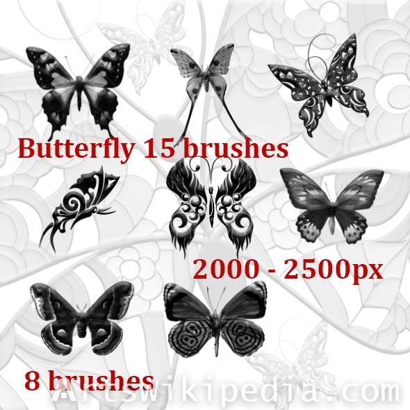 new butterfly brushes