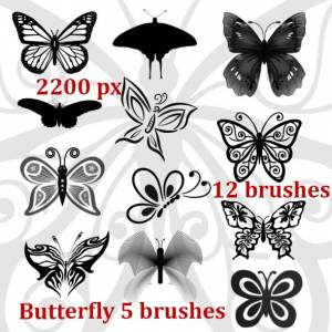 download free butterfly photoshop brushes