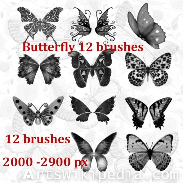 free butterfly brushes