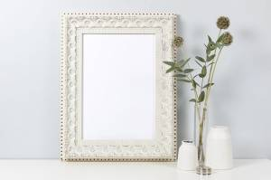 white wood frame mockup