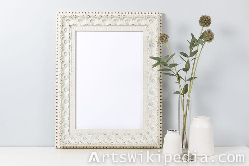 white wood frame mockup
