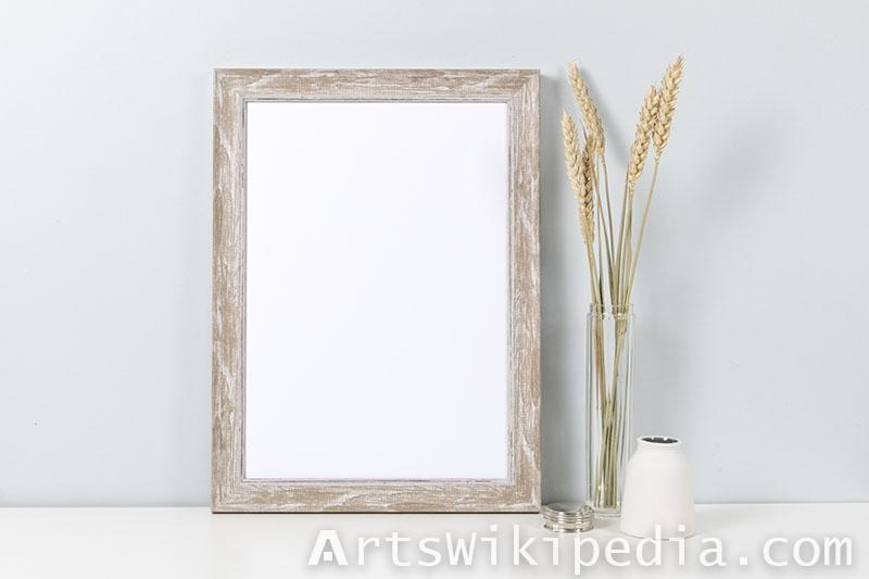 rectangular wood frame psd