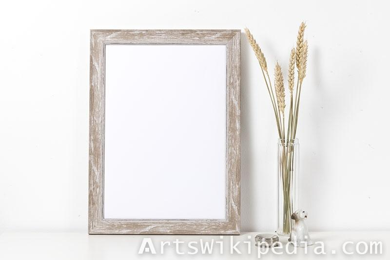 decorative wood frame mockup