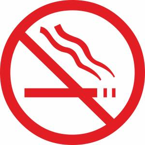 red forbidding smoking sign