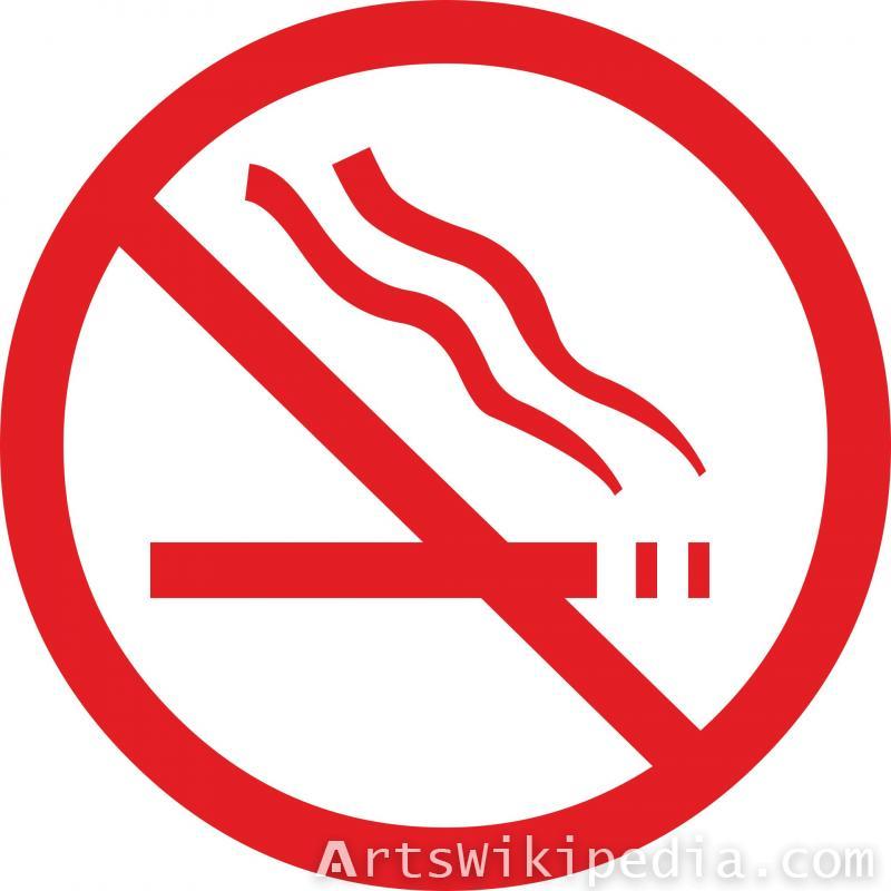 red forbidding smoking sign