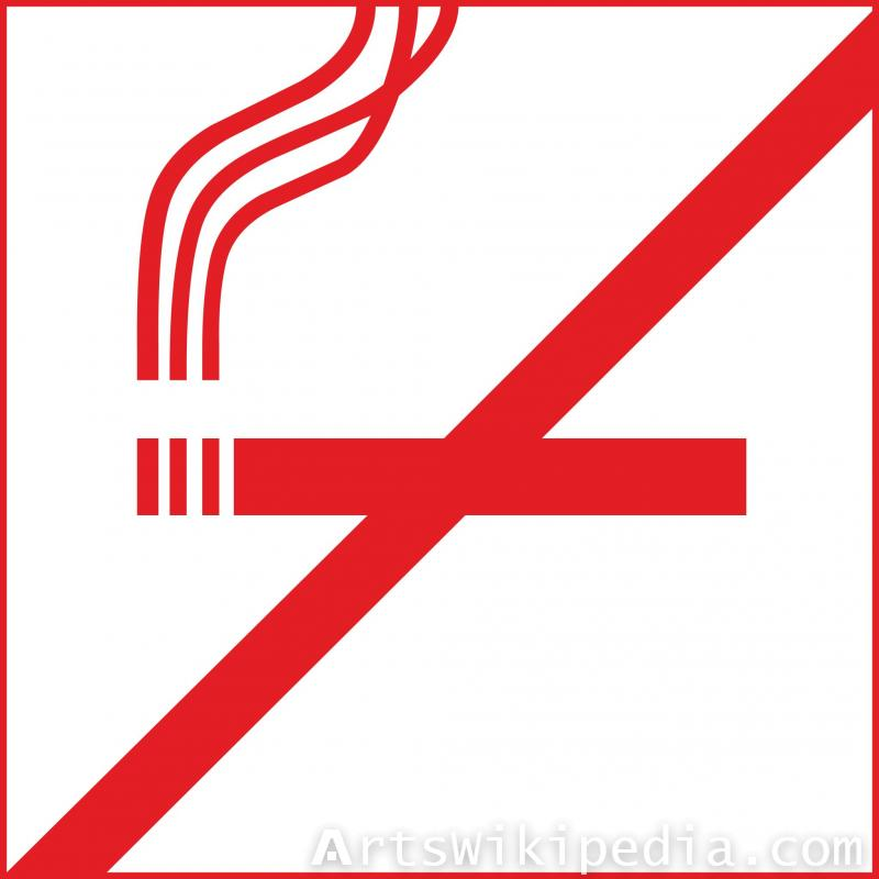 you are not allowed to smoke sign