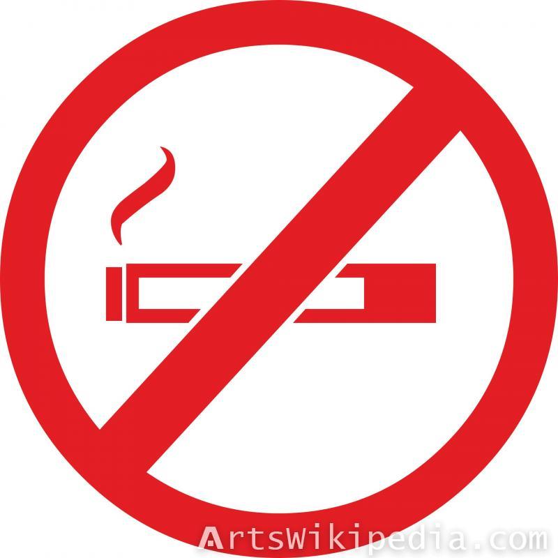no smoke circular sign