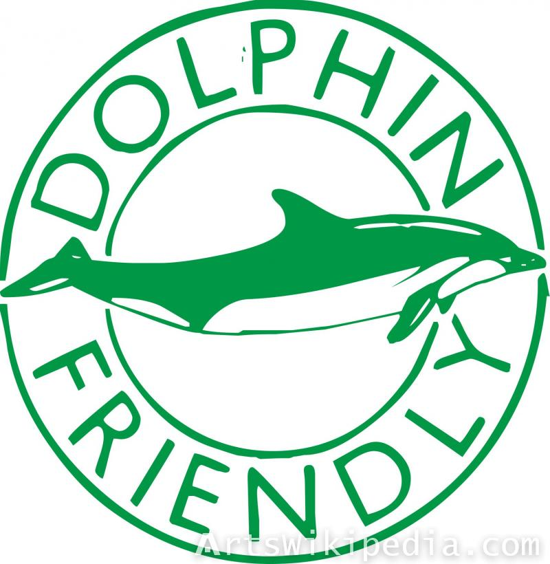 Dolphin friendly sign