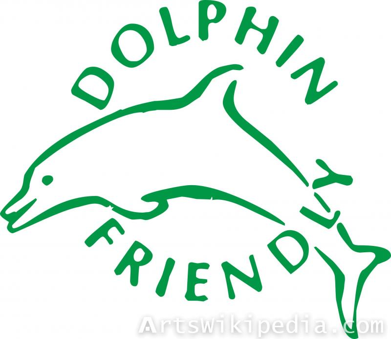 Dolphin friendly area sign