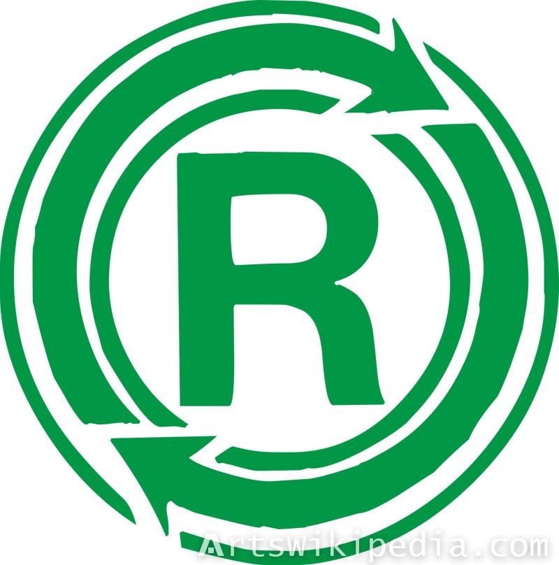 Recycle R sign