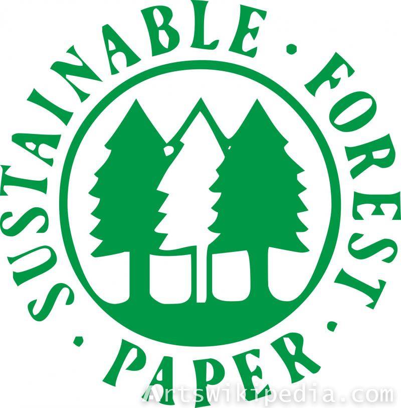 sustainable forest paper sign