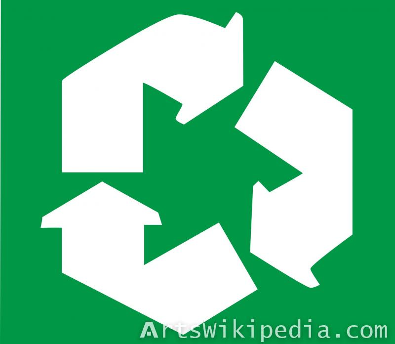Recycle arrows signs