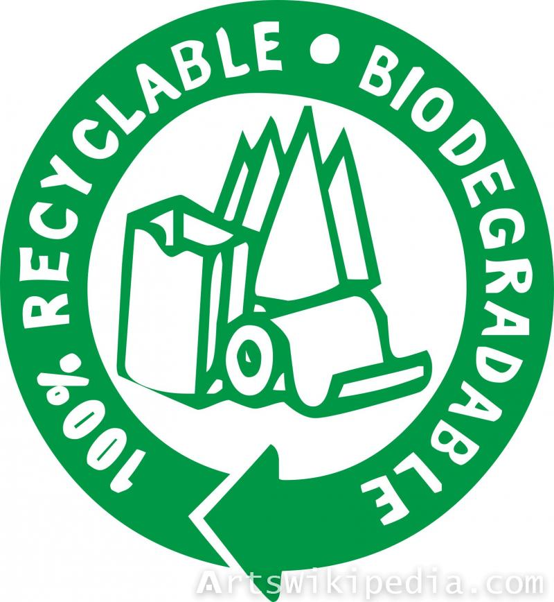 Recyclable biodegradable sign