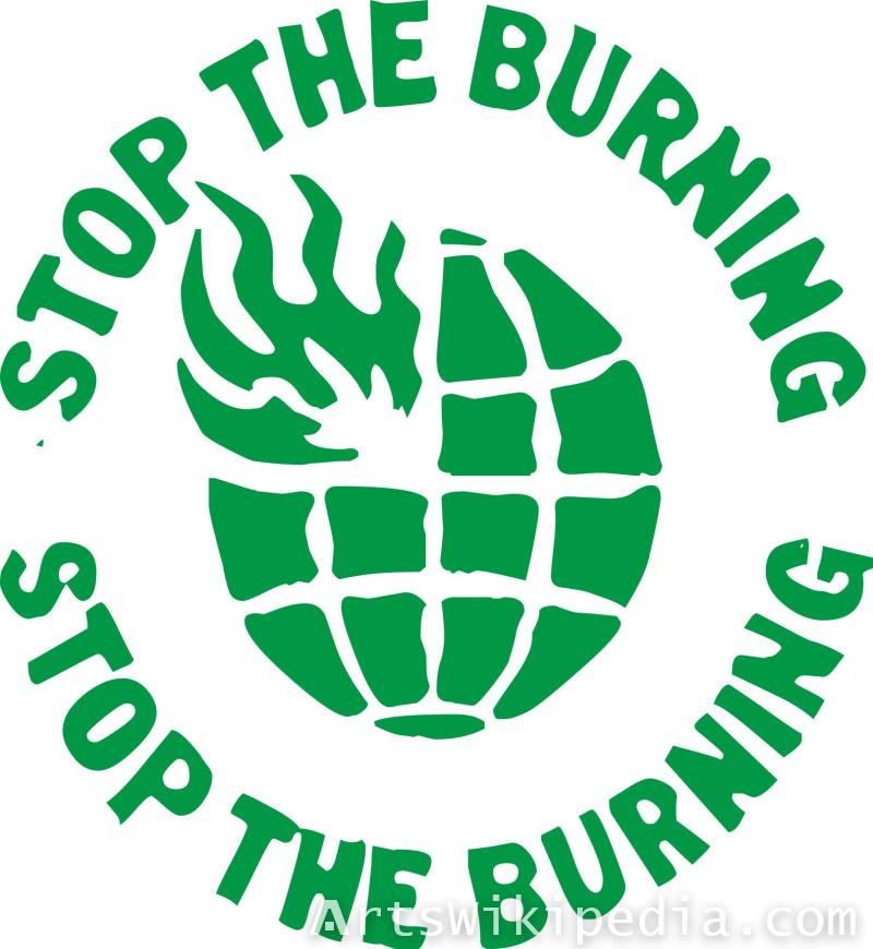 Stop The Burning sign
