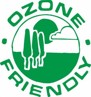 Ozone friendly green sign