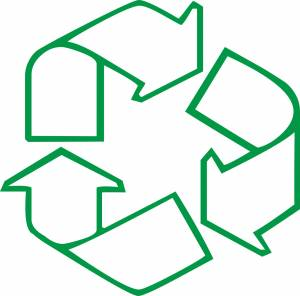 line-arrow-recycling-sign