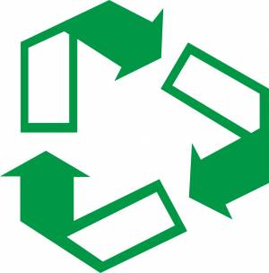 Free arrow recycling sign