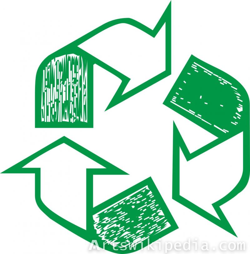 Recycling three arrow