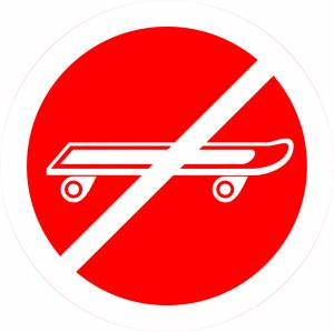 no-sliding-rollers-sign