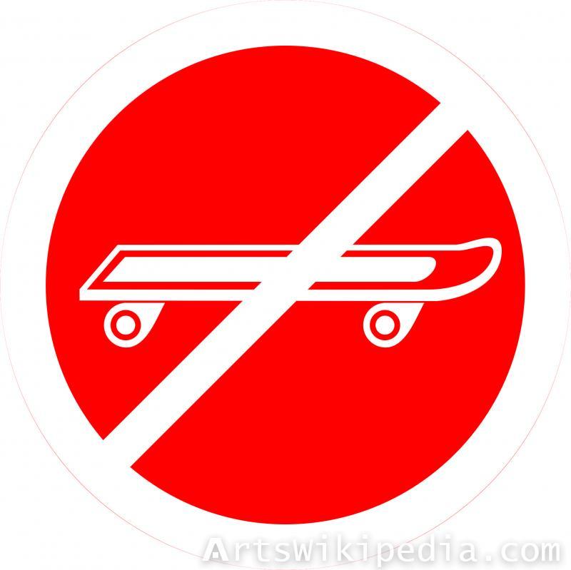 No Sliding rollers sign