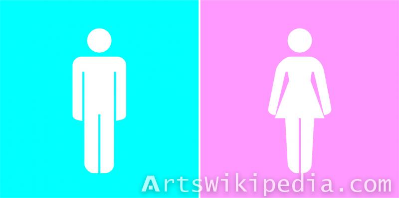 free Male and Female Illustration sign