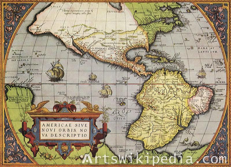 Americae sive novi orbis map