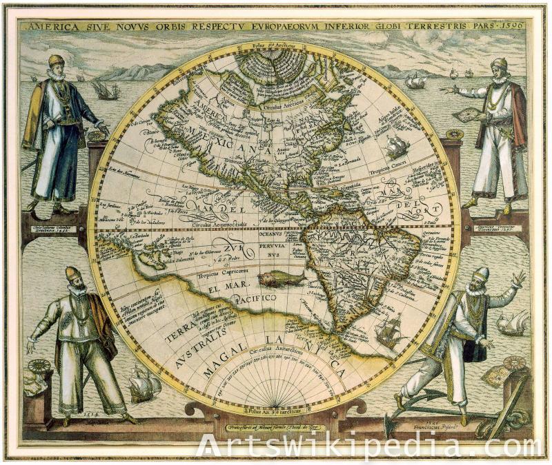 vintage map America