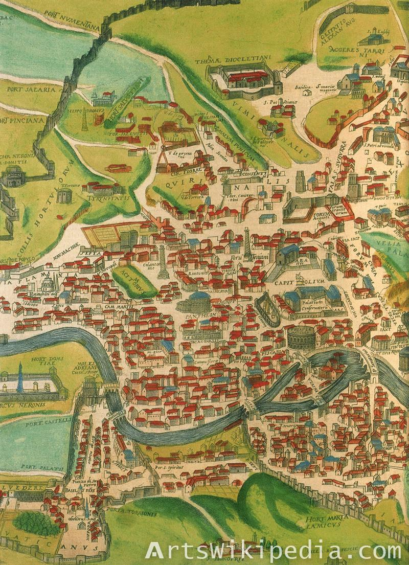 Rome map 1570