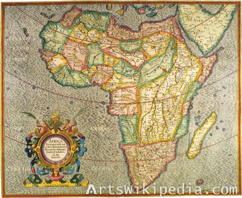 Africa Vintage map