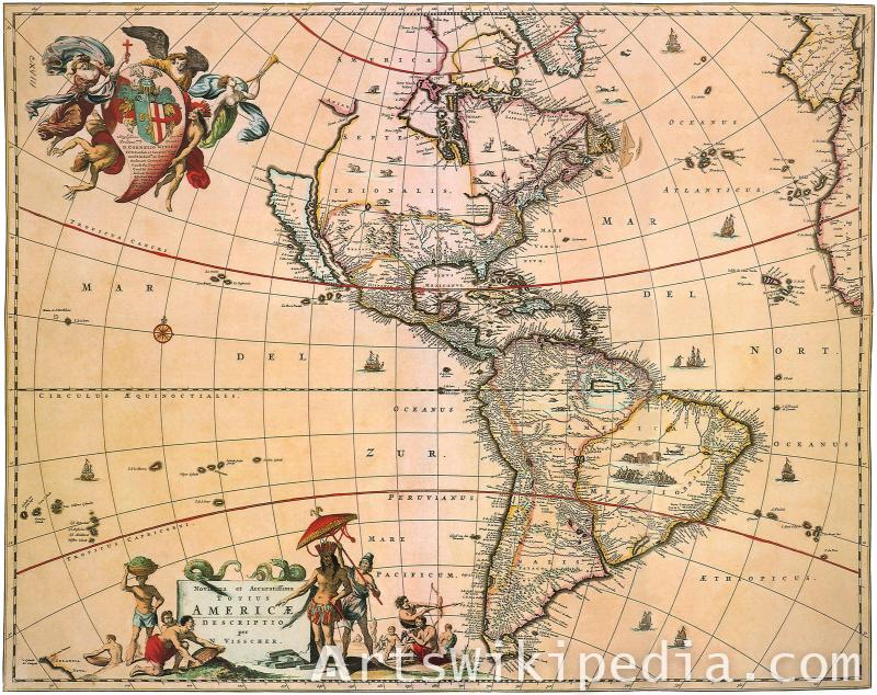 America old history map