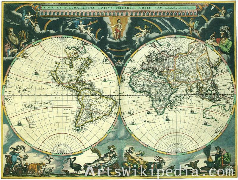 World vintage image