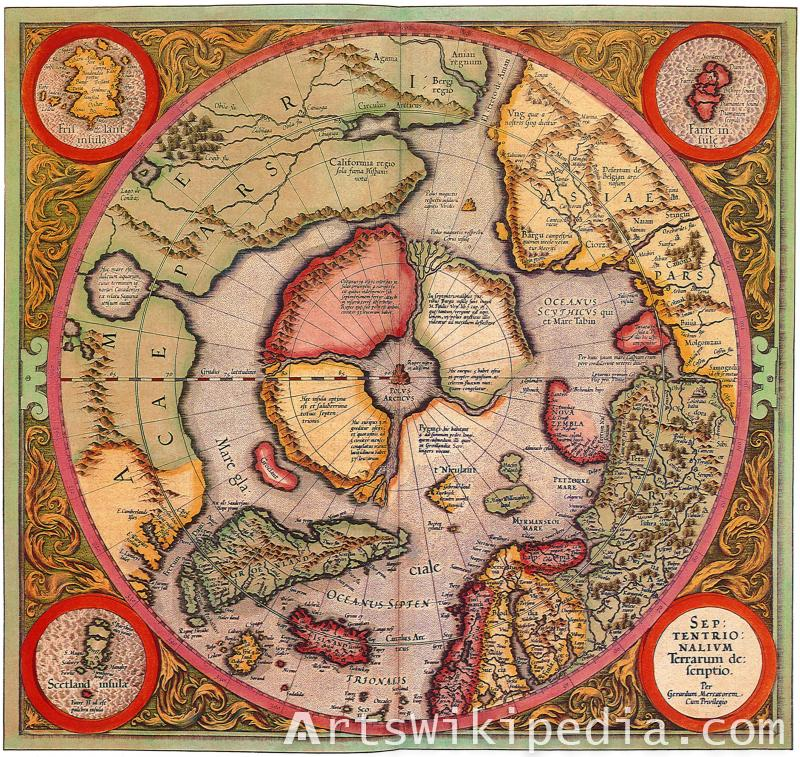 Old North pole map