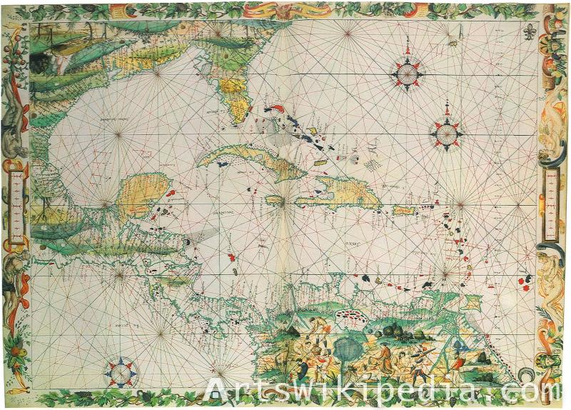 discovery of south america map