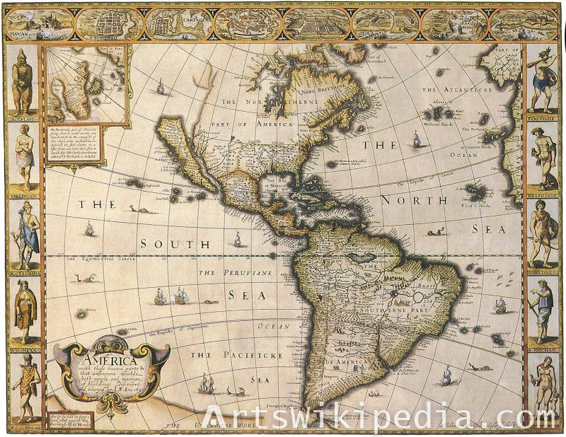 Old South America Map