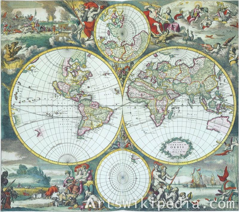 Four Circle World Map