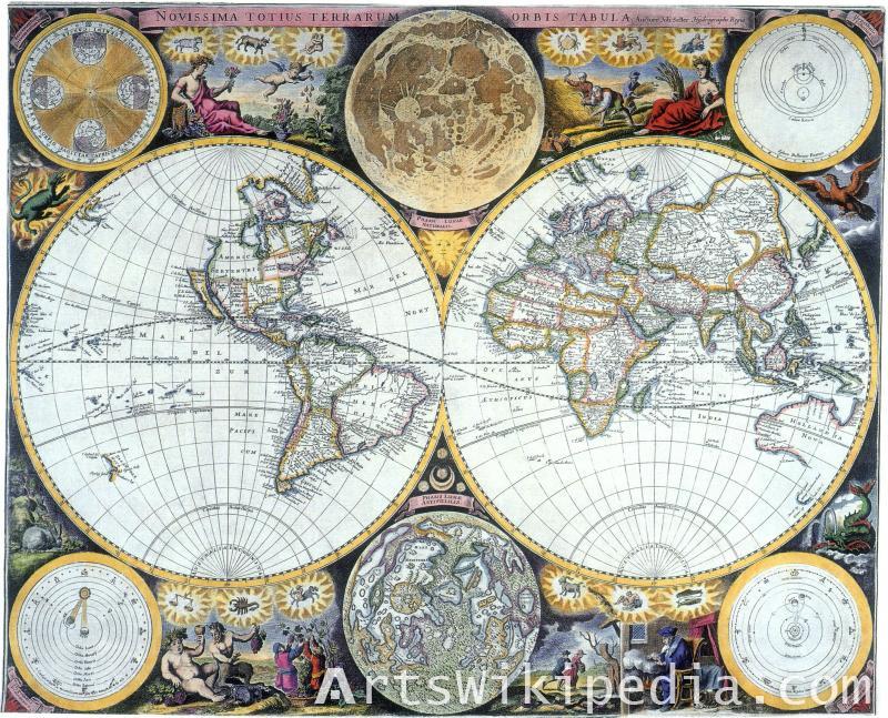 Pieter van den Keere Earth map