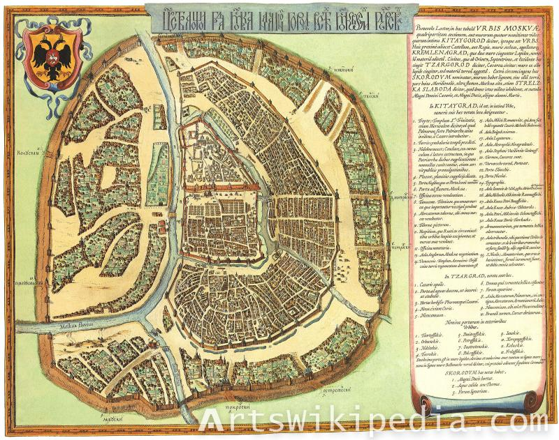 moscow 1140 vintage map