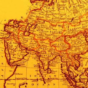 Old yellow India and chine image